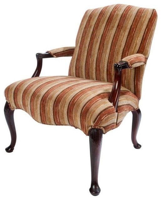 early 20th century queen anne style elbow chair antiques