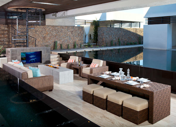 The Ultimate Outdoor Living Room By Somers Furniture Contemporary Outdoor Dining Sets