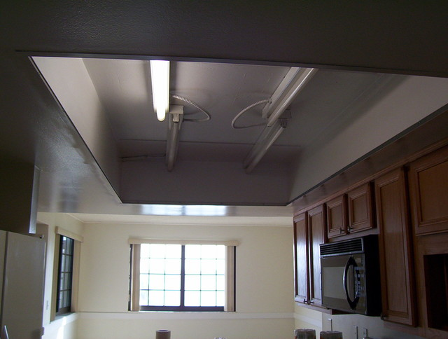 1980 S Style Kitchen Drop Ceiling Lighting To A Custom