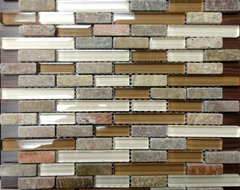 Glass & Stone Mosaic on Sale traditional-tile