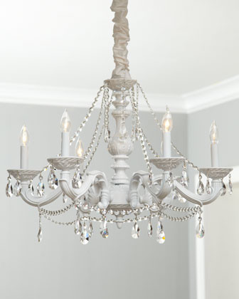 White Abbi Chandelier traditional chandeliers