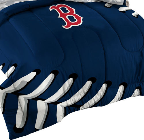 3 Piece Mlb Boston Red Sox Baseball Twin Full Bed