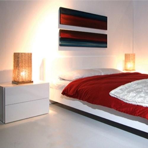 White Floating Bedside Table - Baxter Living Room Furniture