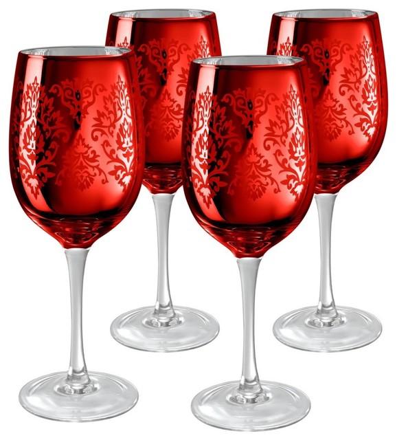 Wine glasses set of 4 modern everyday glassware by hayneedle