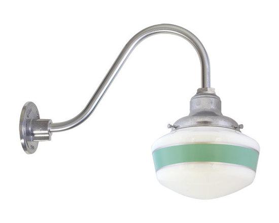 Barn Light Electric - Secondary Schoohouse Gooseneck Light -