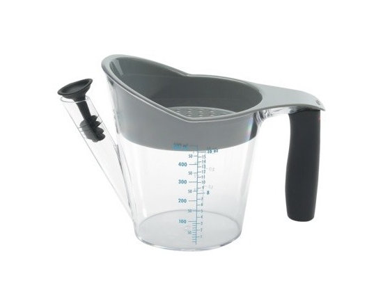 OXO Fat Separator - 2 Cup - A fat separator makes quick work out of separating fat from the broth for making gravies, stocks and stews. I think they are life-savers.