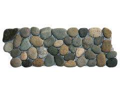 Bali Ocean Pebble Tile Border modern-tile