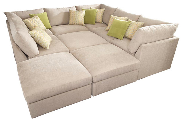 Beckham Pit Sectional contemporary-