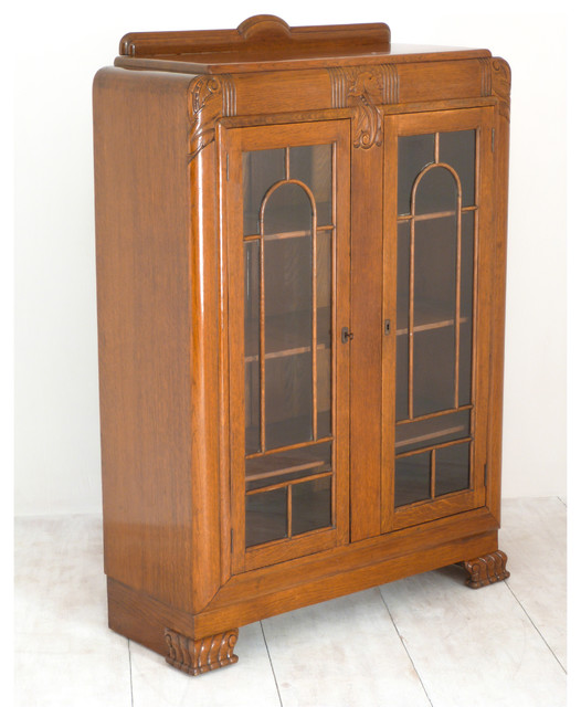 1930's Solid Oak Art Deco Cabinet/Bookcase - Traditional - Bookcases - north west - by ...