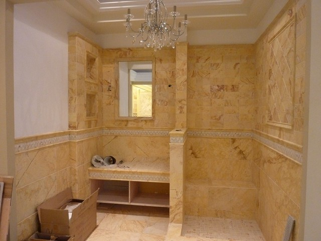 beige marble bathroom decoration traditional tile other metro