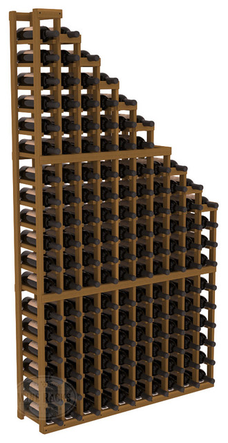 Wine Cellar Waterfall Display Kit in Redwood with Oak Stain contemporary-wine-racks