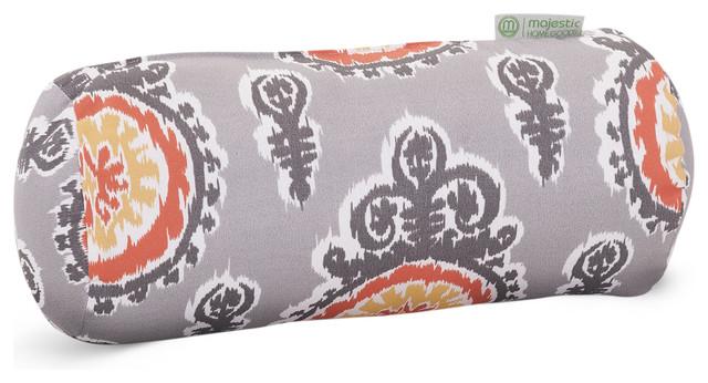 Modern Bolster Pillows : Outdoor Citrus Michelle Round Bolster Pillow - Modern - Outdoor Cushions And Pillows - by ...
