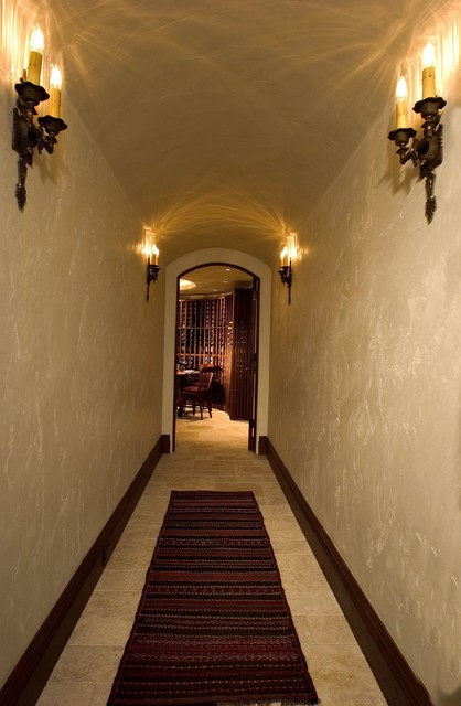 Classic Mountain Style traditional-wine-cellar