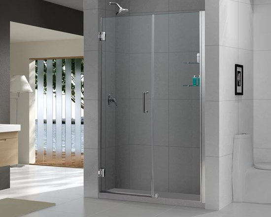 "DreamLine Unidoor 59"" - 60"" Frameless Shower Door With 30"" Stationary Panel SHDR - DreamLine™ UNIDOOR is the only door you will ever need to complete an unforgettable design of your shower project. The UNIDOOR shower door collection has an opening door range from 23"" up to 61"", and can be reversed for either left-wall or right-wall installation. The 3/8"" heavy glass and the frameless design supported by solid brass self-closing hinges delivers the look of an expensive custom glass door at a fraction of the high custom price"