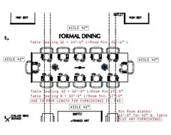 Dining table size guid for 12 seater dining table size