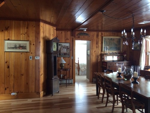 Should i paint a knotty pine dining room Should i paint wood paneling