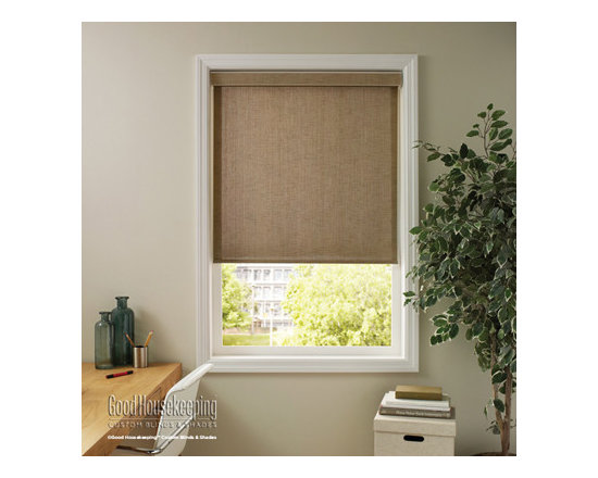 Good Housekeeping - Good Housekeeping Roller Shades: Natural Weave & Woven Stripe - A traditional favorite, roller shades get a modern makeover with fresh fabrics, unique features and the reliability you would expect from Good Housekeeping.  Backed by the Good Housekeeping Seal, these roller shades feature high-quality components and child safe options for years of reliable use.