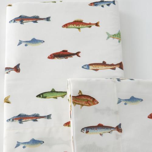 Tommy's Fish Sheet Set modern-sheet-and-pillowcase-sets