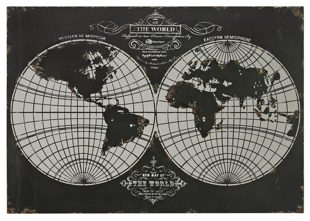 Sterling Industries 51-10118 World Map-Laser Cut Map Of The Globe contemporary-artwork