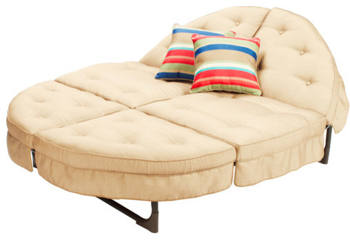 Mainstays Crossman Orbit Chaise Lounge, Tan - Contemporary ...
