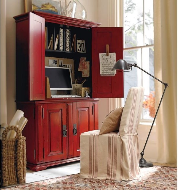 Campton Smart Technology Office Armoire, Desa Ming Red ...