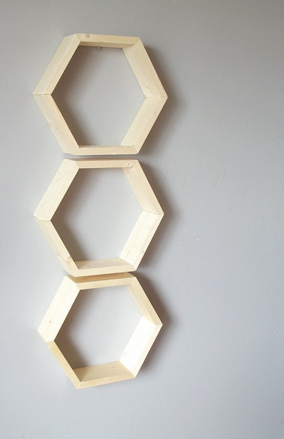 Honeycomb Shelves By Geometric Home Set Of 3