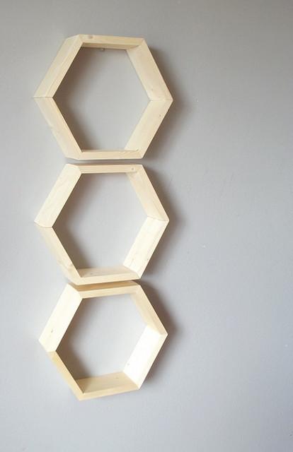 Honeycomb Shelves By Geometric Home Set Of 3