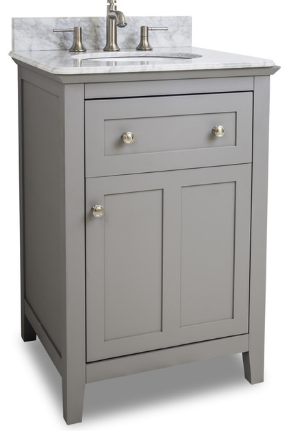 VAN102 24 T 24 Grey Chatham Shaker Vanity With Top And Bowl In Grey T