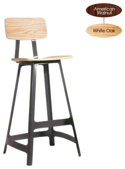 Ivar Counter Stool, White Oak with White Base modern-bar-stools-and-counter-stools