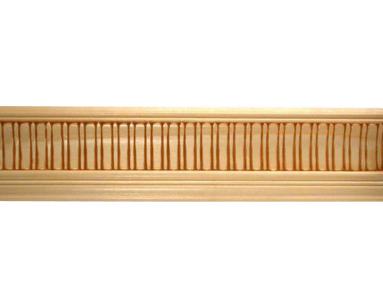 "Inviting Home - Chilmark crown molding - embossed wood crown molding 3-1/2""H x 2-5/8""P x 4-3/8""F x 8'00""L sold in 8 foot length (3 piece minimum required) Outstanding quality embossed crown molding profile milled from high grade kiln dried solid poplar hardwood. Decorative ornamental design crafted embossed under intense heat and pressure. Wood molding is sold unfinished and can be easily stained painted or glazed. The installation of the wood molding should be treated the same manner as you would treat any wood molding: all molding should be kept in a clean and dry environment away from excessive moisture. Acclimate wooden moldings for 5-7 days. When installing wood moldings it is recommended to nail molding securely to studs and glue all mitered corners for maximum support."