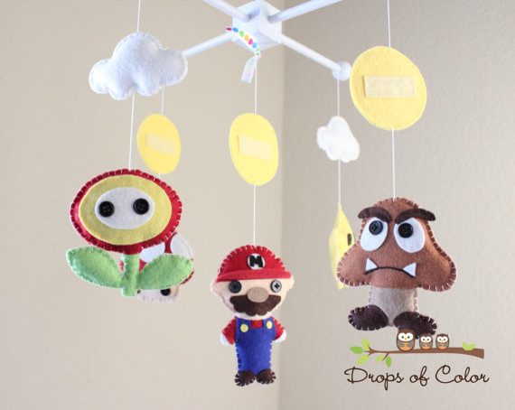 Super Mario Bros. Mobile by Drops of Color contemporary-mobiles