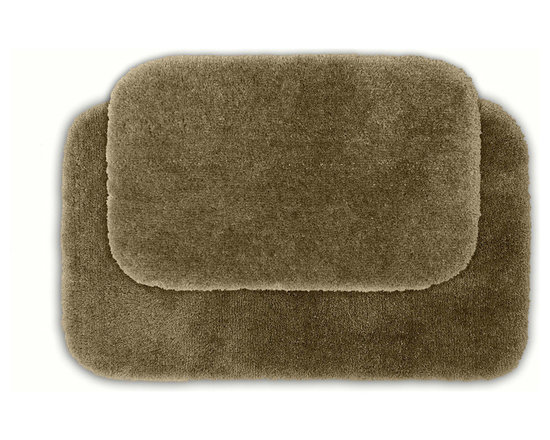 Sands Rug - Posh Plush Taupe Washable Bath Rug (Set of 2) - Revel in spa-like luxury every time you step into your bath with the Posh Plush collection of bath rugs. The amazingly soft, yet durable, nylon plush is machine washable, and each floor piece has a non-skid latex backing for safety.