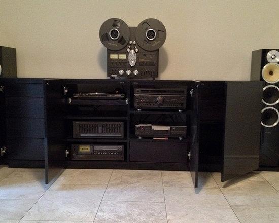 Black Beauty. Bespoke Black Gloss AV Cabinet & Custom Media Storage -