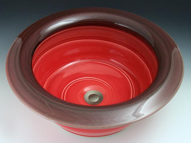 MODERN-red contemporary-bathroom-sinks