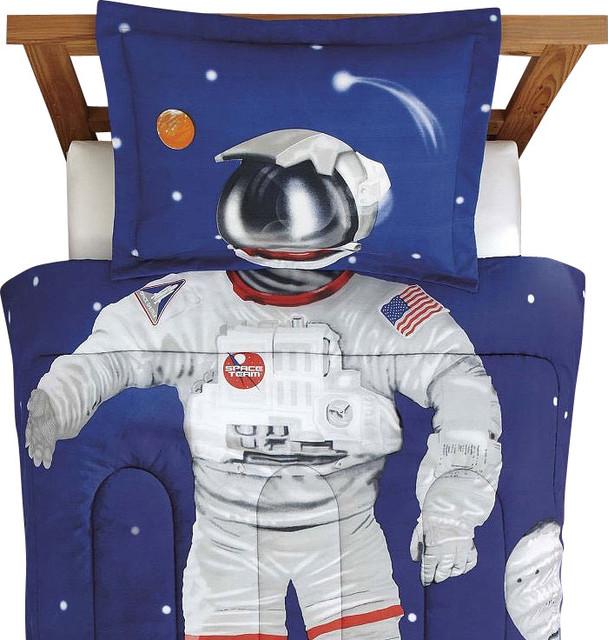 Astronaut Full Comforter Set Space Suit Bedding