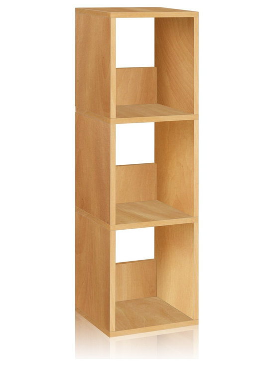 Way Basics - Way Basics Eco 3 Shelf Trio Narrow Bookcase, Natural - The Trio Narrow Shelf will complement and organize any space in your home with its simplistic, modern design! It's unique tool free assembly & endless possibilities make it an essential piece for the home.