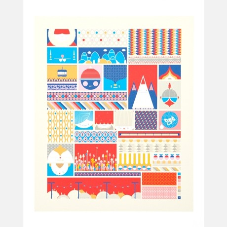 Little Story In Geometrical Shapes modern-artwork