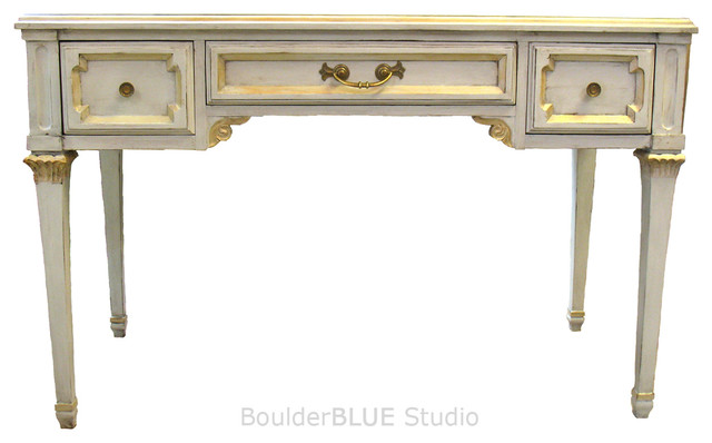 Painted Vintage Desk - Traditional - Desks And Hutches - other metro ...