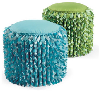 Shag Ottoman modern-footstools-and-ottomans