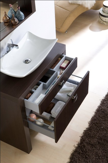 Macral Tokyo 31 and 1/2 inches. Single sink console. Wenge