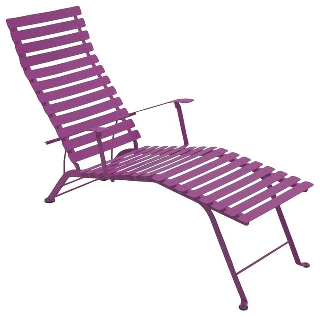 fermob bistro folding chaise lounge modern indoor