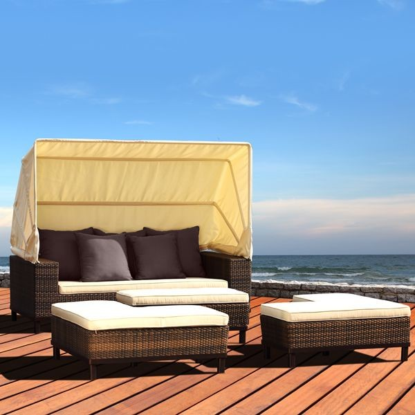 Hollywood outdoor wicker daybed outdoor chaise lounges for Chaise lounge chicago