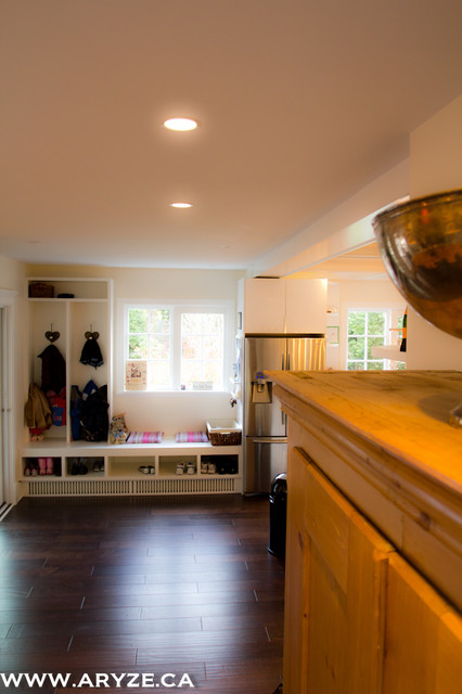 Mudroom built in contemporary hall