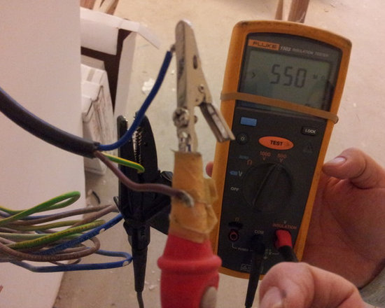 Checking Insulation Resistance of the heat wire-step 2 -