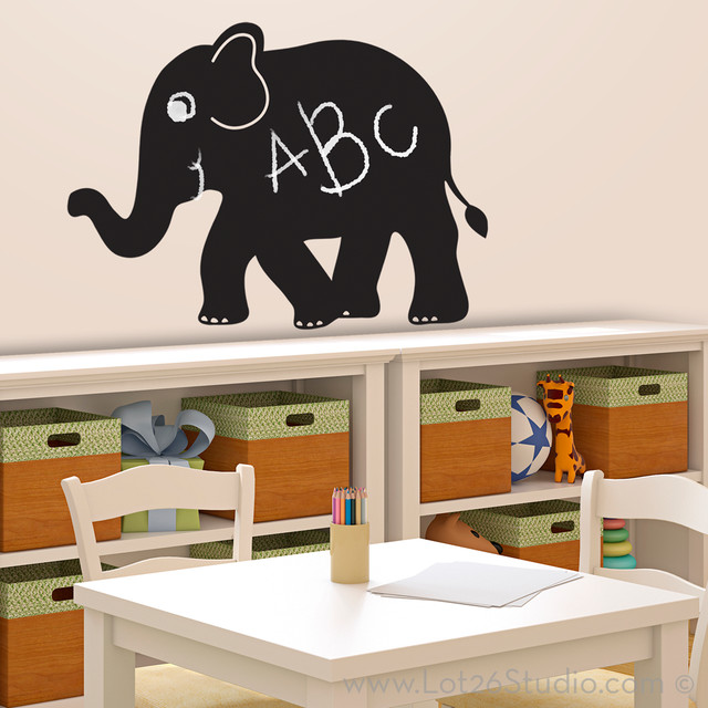 Chalkboard Wall Decal Collection Elephant Chalkboard Wall Decal