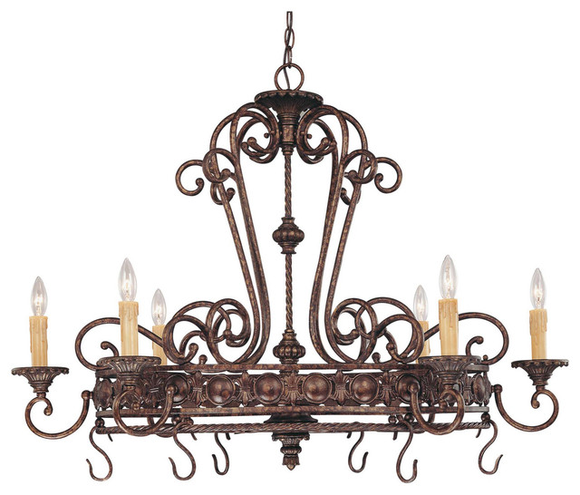 Savoy House 1P-50039-6-56 Rowen 6 Light Pot Rack traditional-pot-racks-and-accessories