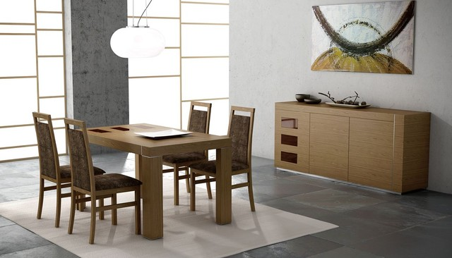 extendable wooden modern dining room contemporary