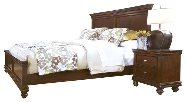 Standard Furniture Essex 3-Piece Panel Bedroom Set in Rich Dark Merlot traditional-bedroom-products