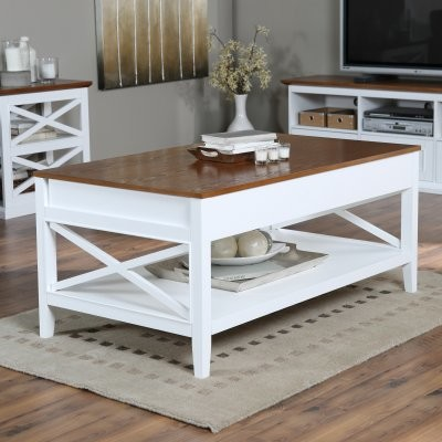 Belham Living Hampton Lift Top Coffee Table White Oak Kg 044 Wo Contemporary Furniture