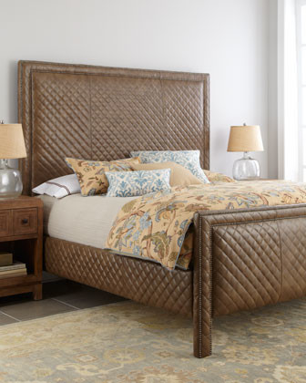 "Old Hickory Tannery ""Cicily"" Diamond-Quilted Bed traditional-beds"
